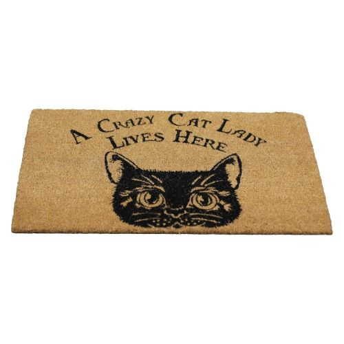 Crazy Cat Lady Doormat  sc 1 st  The Mystical Gift Shop & Crazy Cat Lady Lives Here Doormat | Nemesis Now | The Mystical ... pezcame.com