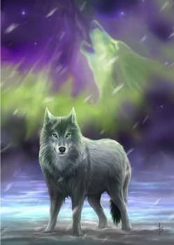 Aura Wolf By Anne Stokes
