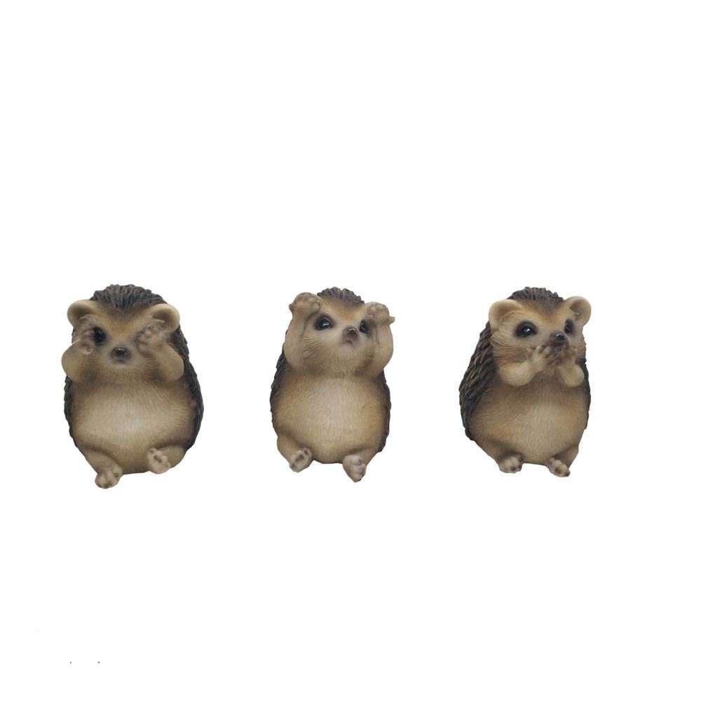 Three Wise Hedgehogs