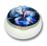Blue Moon Trinket Box By Anne Stokes