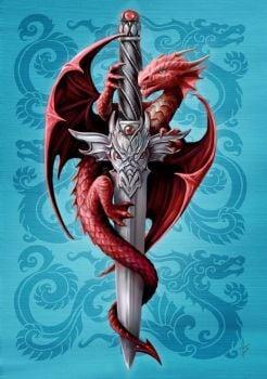 Dragon & Dagger By Anne Stokes