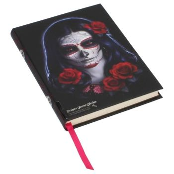 Sugar Skull Embossed Journal By James Ryman