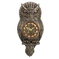 Chronology Wisdom - Steampunk Owl Wall Clock