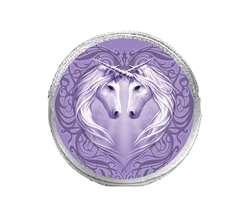 Unicorn Heart By Anne Stokes - Round Coin Purse