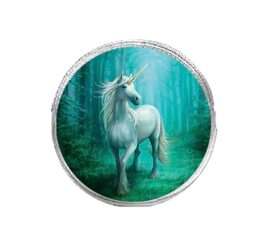 Forest Unicorn By Anne Stokes - Round Coin Purse