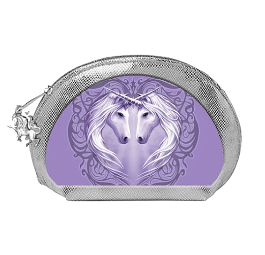 Unicorn Heart By Anne Stokes - 3D Oval Makeup Bag