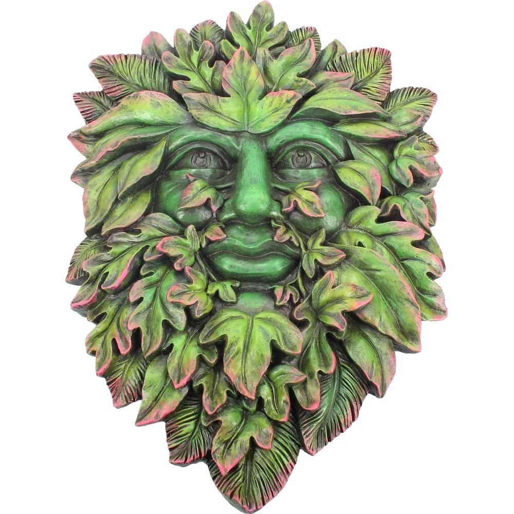 Beltane's Bourgeon - Greenman Wall Plaque
