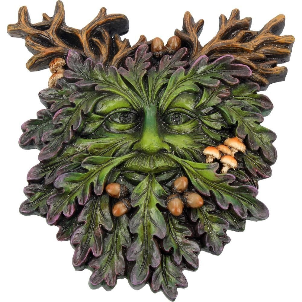 Autumns Reflection - Green Man Wall Plaque