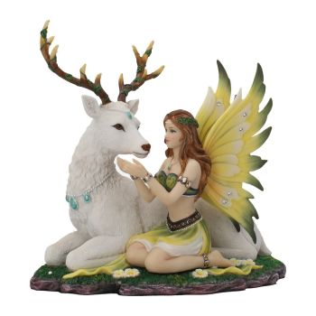 Adoration - Fairy & Stagg Figurine