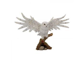 Snowy Rest Owl Figurine