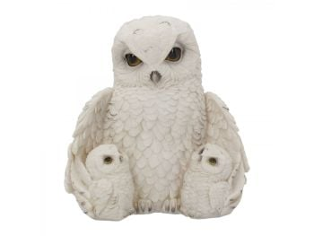 Feathered Family Owl Figurine
