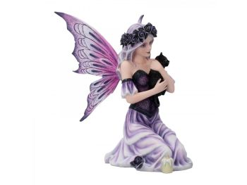 Twilight Comfort - Fairy & Cat Figurine