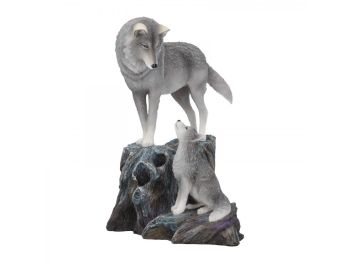 Guidance By Lisa Parker - Wolf & Pup Figurine