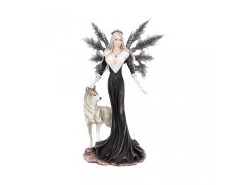 Dark Aura - Premium Fairy & Wolf Figurine