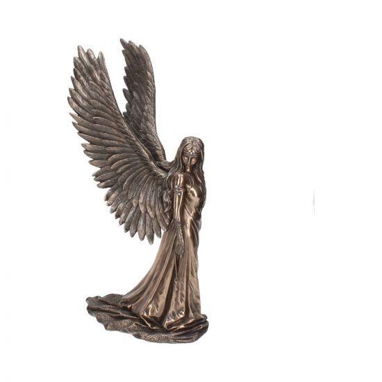 Spirit Guide - Bronze Angel Figurine By Anne Stokes