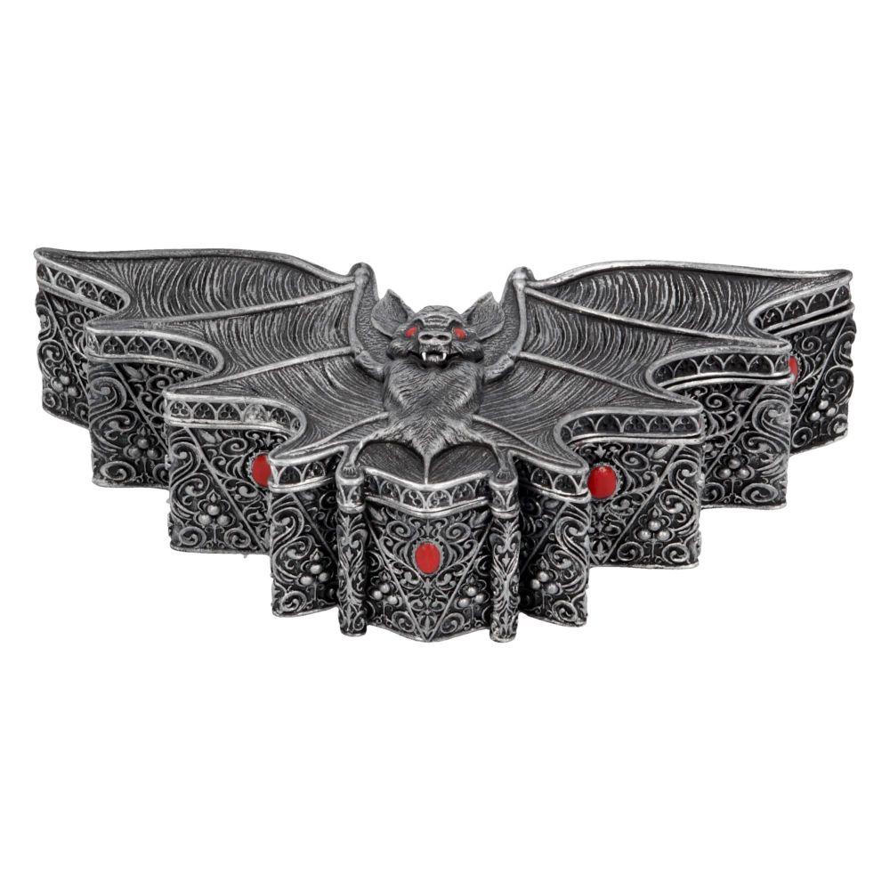 Carpe Noctem Box - Gothic Bat Trinket Box