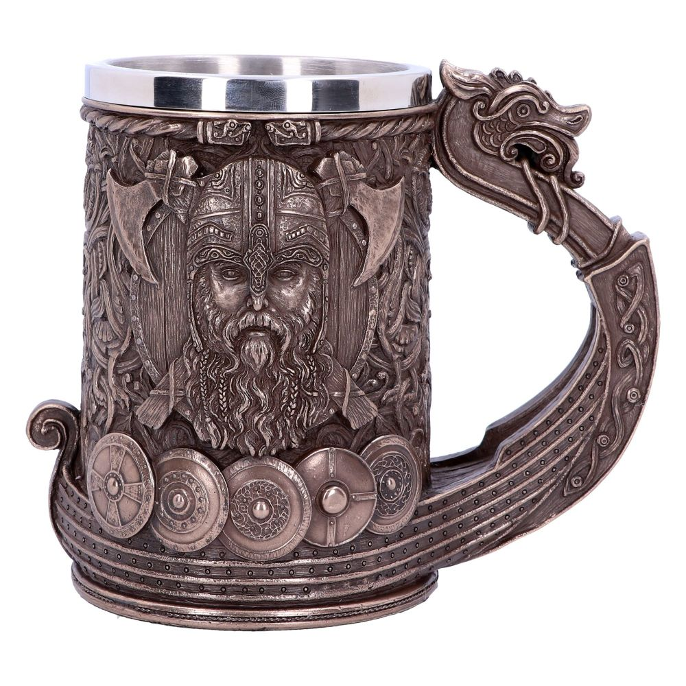 Bronze Drakkar Viking Tankard