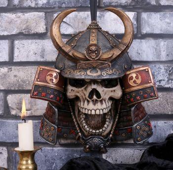Kabuto Samurai Skull Wall Plaque