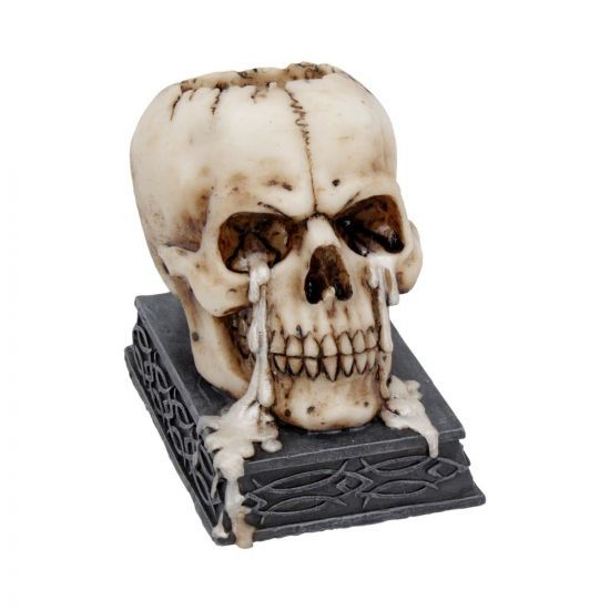 Tears of Time - Skull Tealight Candle Holder