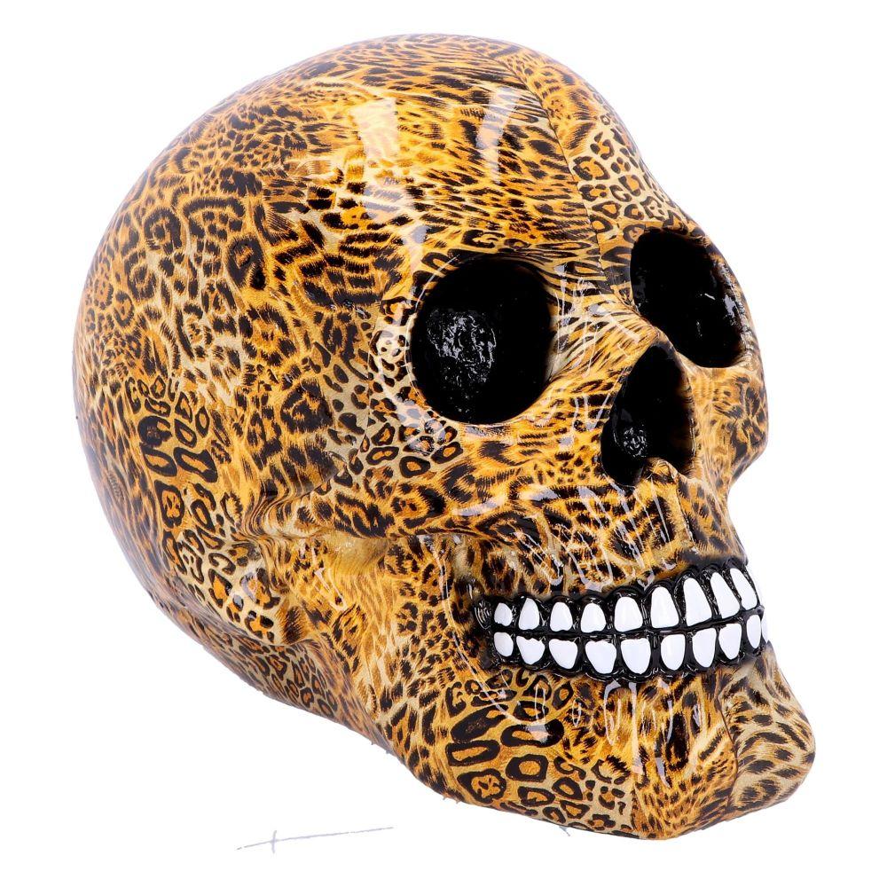 Wild - Leopard Print Skull Figurine
