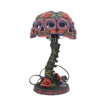 Night Blooms - Sugar Skull Lamp
