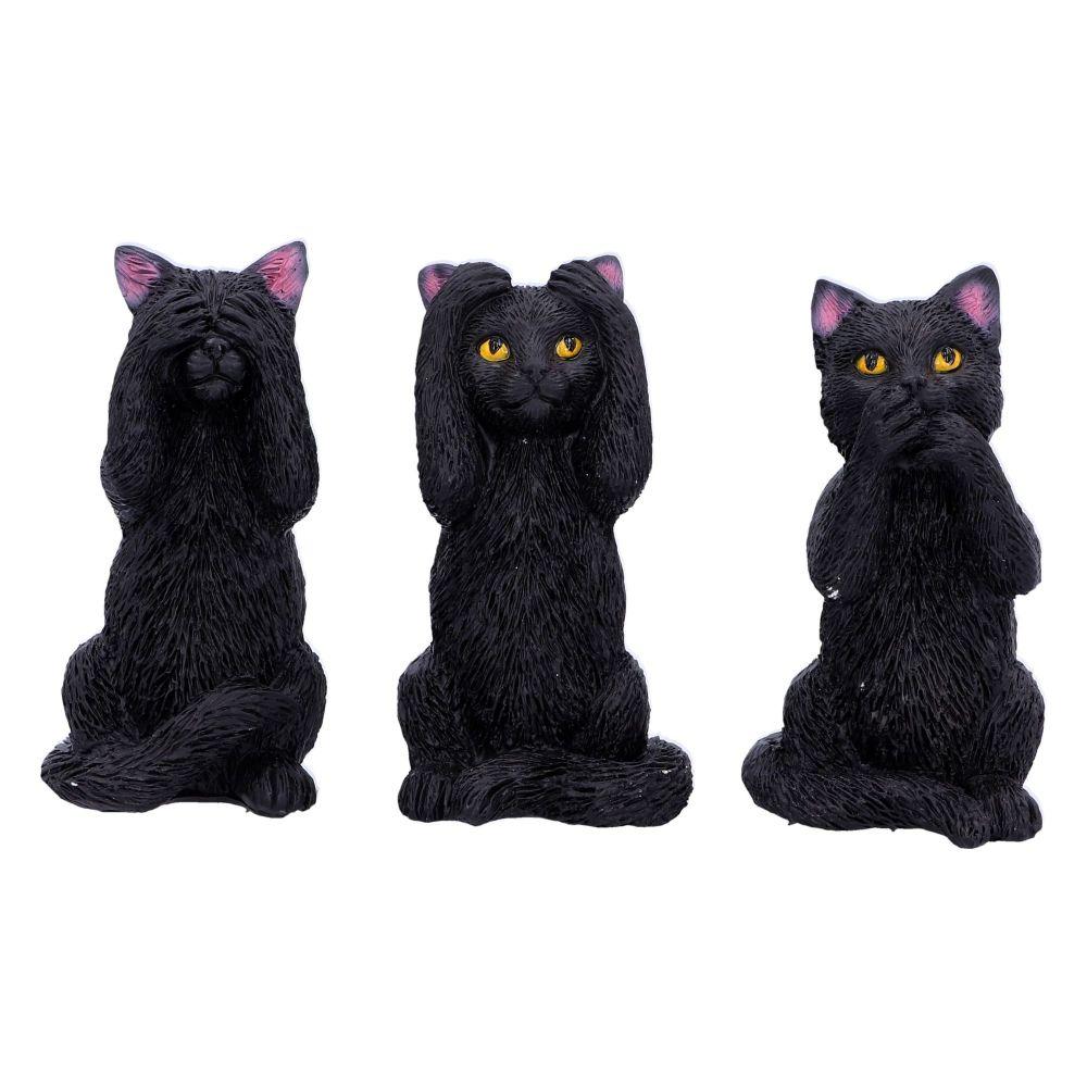 Three Wise Cats - Hear No Evil, See No Evil, Speak No Evil