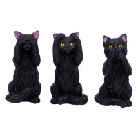 Three Wise Felines - Hear No Evil, See No Evil, Speak No Evil