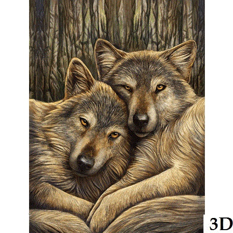 Loyal Compnaions By Lisa Parker 3D Picture