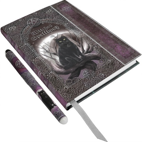 Witches Spell Book Embossed A5 Journal/Book of Shadows with Pen By Luna Lak