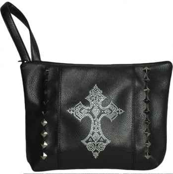 Diamante Cross Bag With Handle