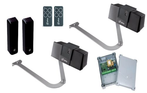 BLITZ Double 230v Articulated Arm Electric Gate Automation Kit Digital cont