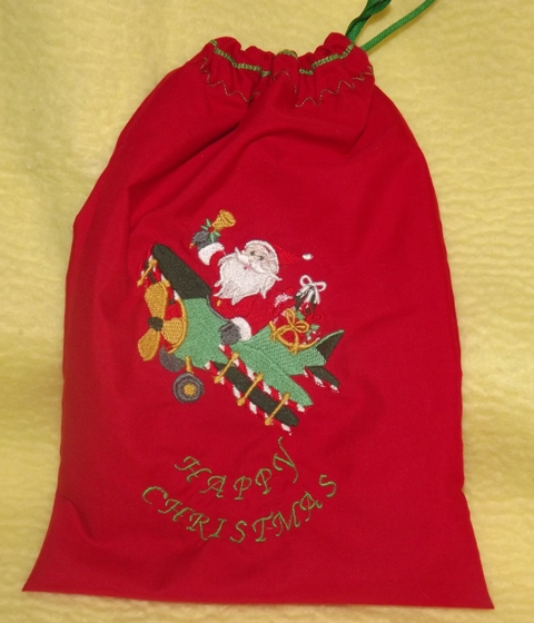 Embroidered Santa sack