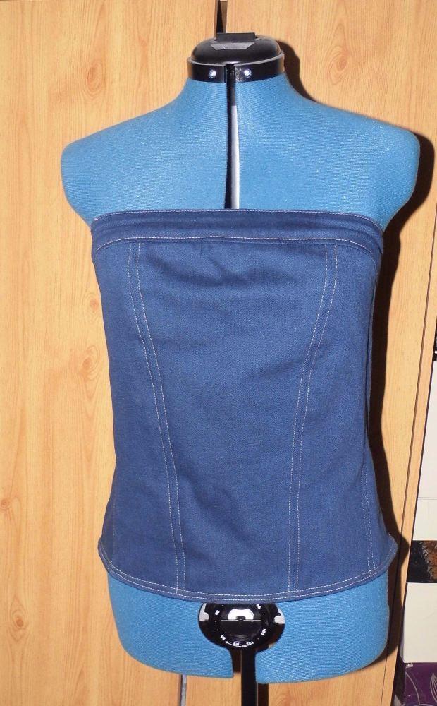 Denim corset style top