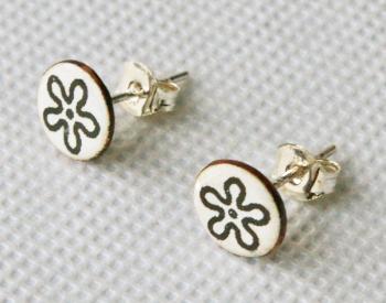 Tiny Round Stud Earrings