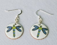Dragonfly Circle Earrings