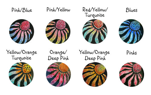 Echinacea Colours (Circle)