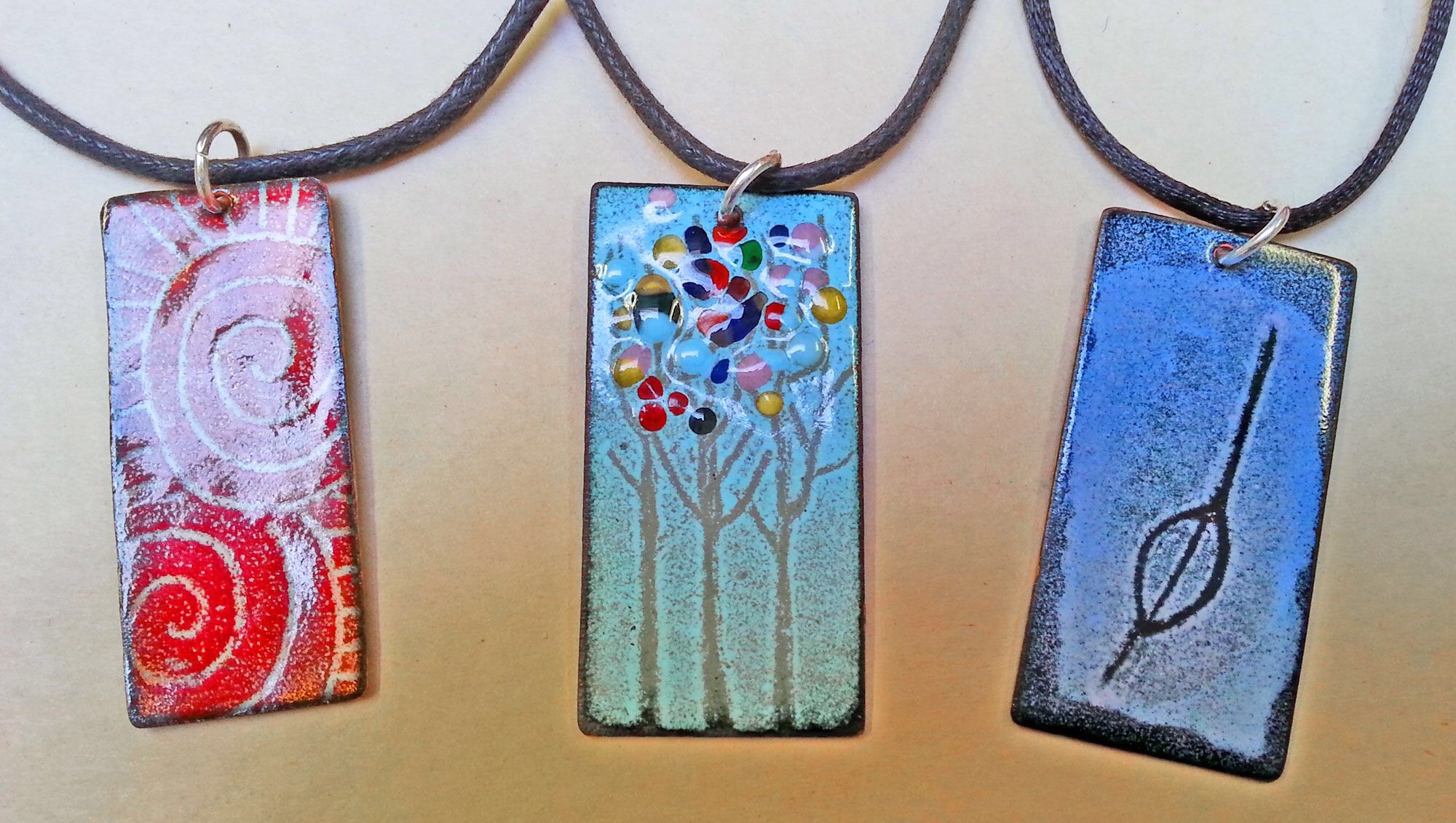 Pendants made at a recent session