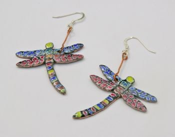 Large Dragonfly Earrings