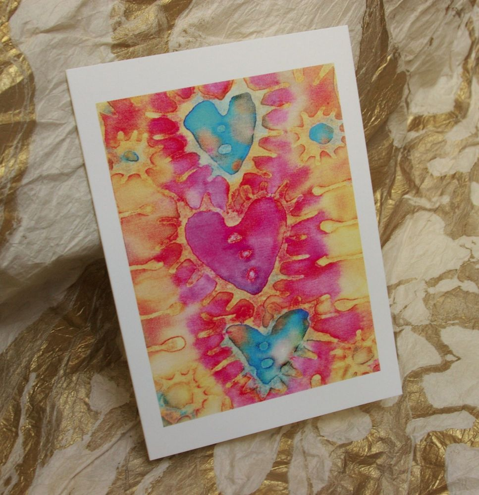 'Three Hearts' Greetings Card