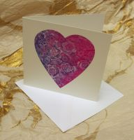 'Fill my Heart with Flowers' Greetings Card