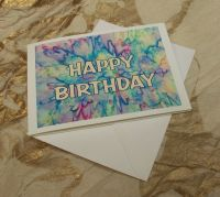 'Happy Birthday' on Silk Greetings Card