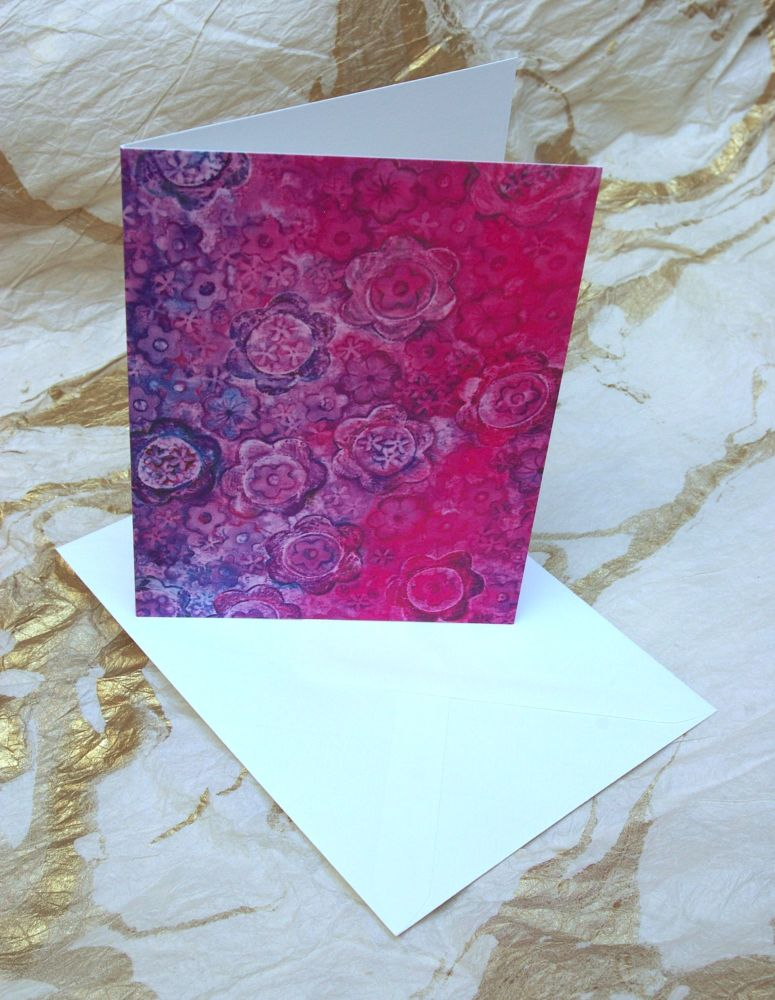 'Floral' Greetings Card