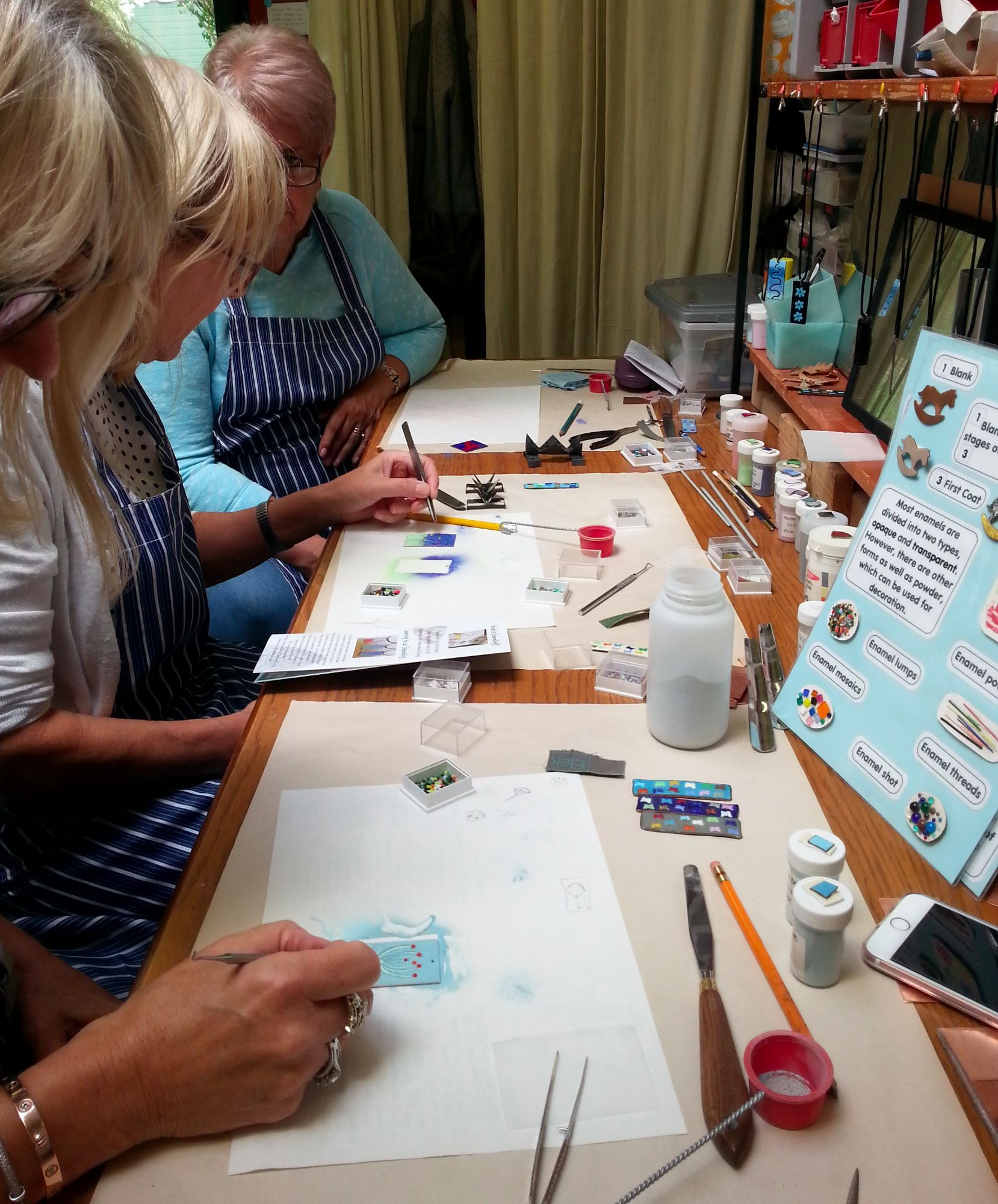 Enamelling Session - Students at Work