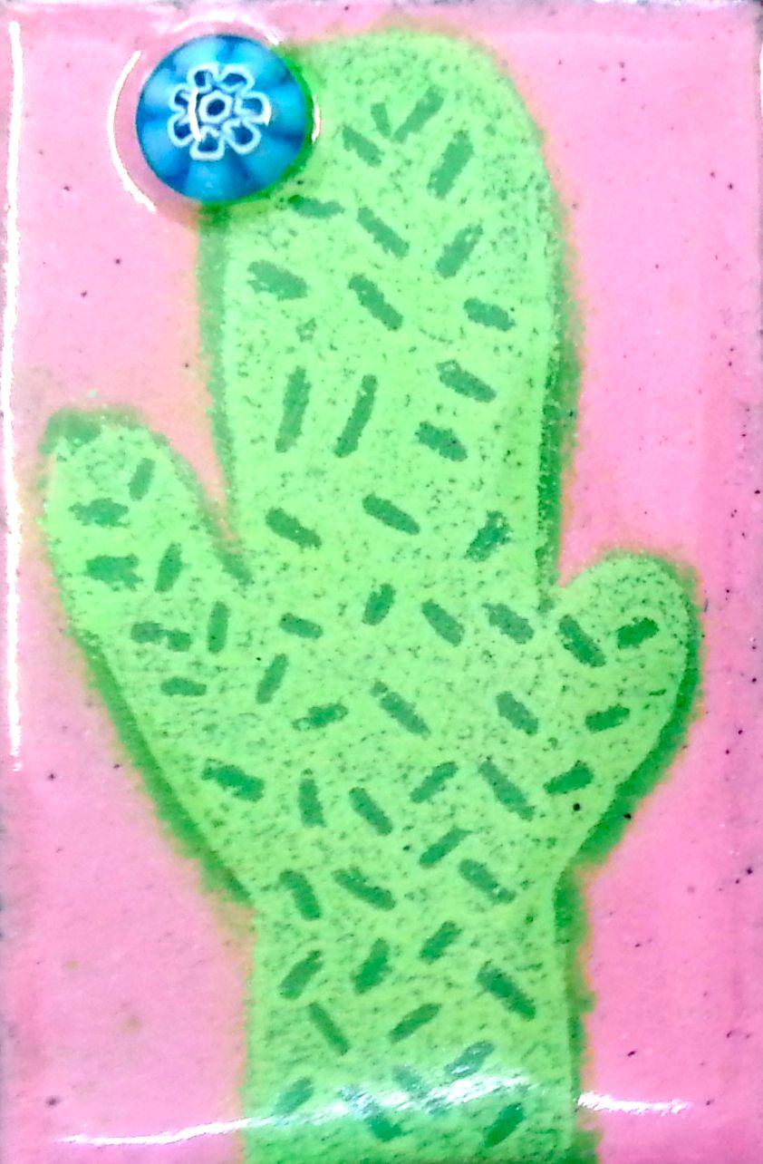 Student's cactus enamel plaque
