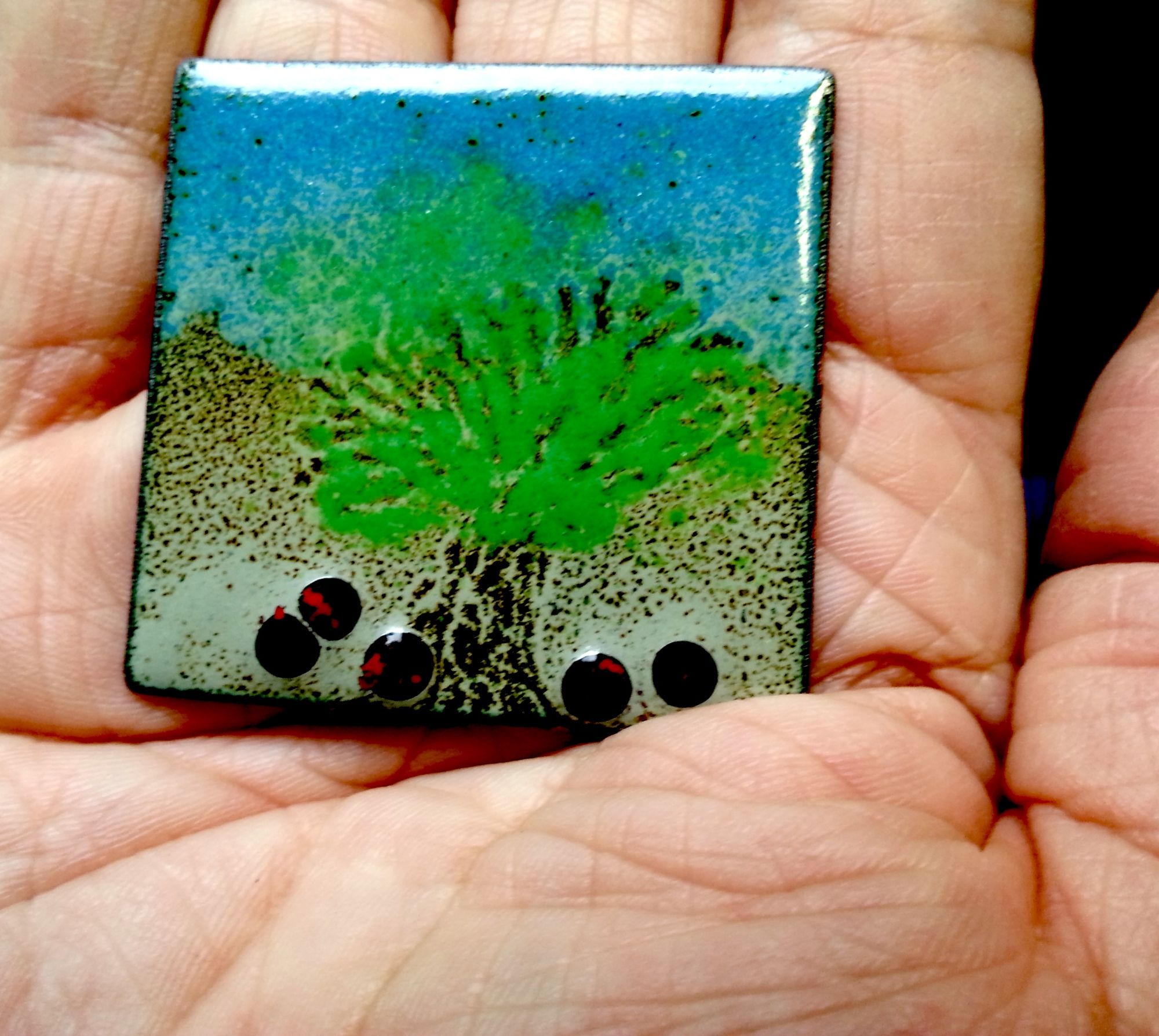 Student's Enamel Plaque made at Enamellin Session