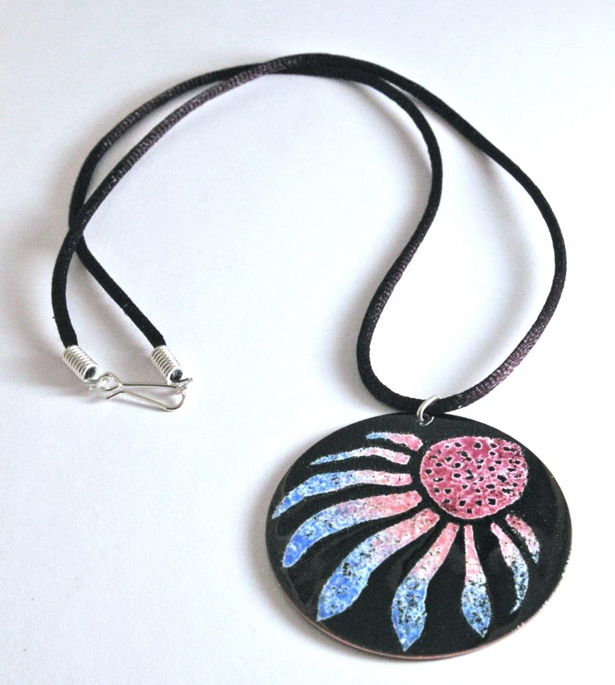 Circular Flower Pendant - Echinacea