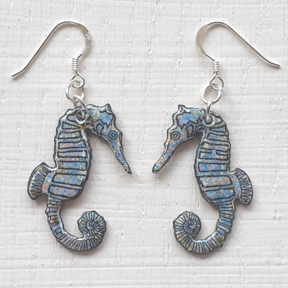 Seahorse Pendant Earrings