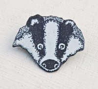 Badger's Head Brooch