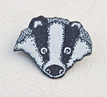 Badger's Head Brooch