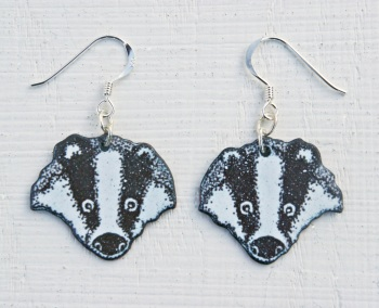 Badger's Head Earrings